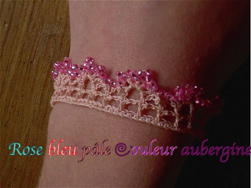 bracelet rose chaire 1