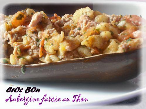 aubergine farcie au thon