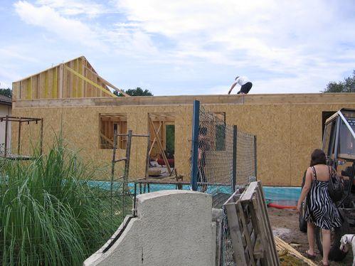 Montage pignons le 06 08 2011 le blog de maison passive for Blog maison passive