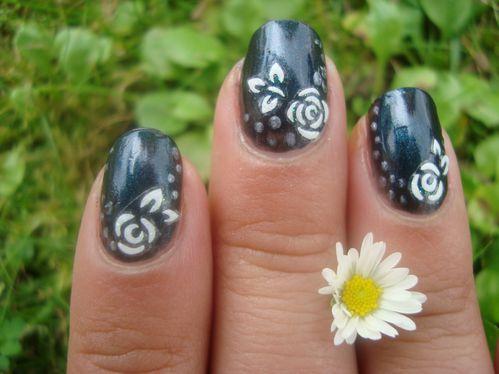 Nail art fleur stickers 5