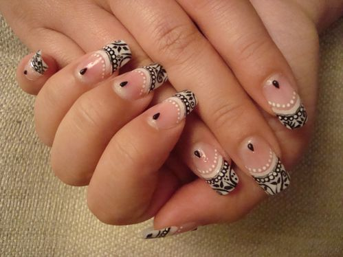 Nail art french chic 3