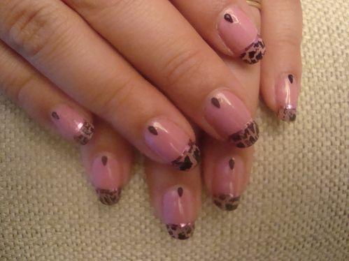 Nail art french crakle 2