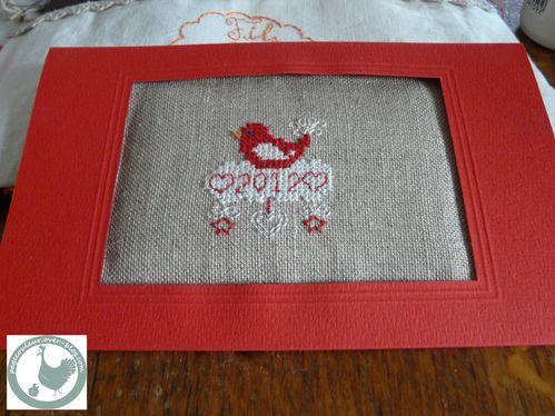 carte de voeux rouge