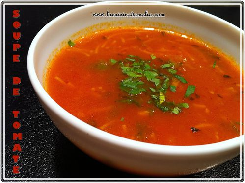 soupe tomate vermicelle