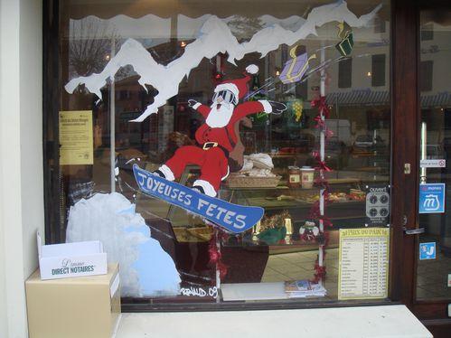 Deco de no l vitrine d 39 une boulangerie d co r31 - Decoration de vitrine de noel ...