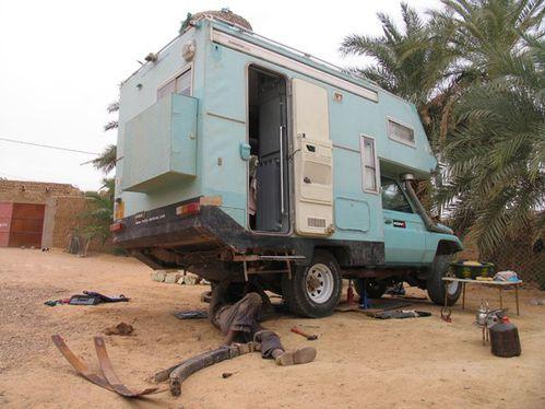 Remplacement paquets de lames Atar Sahara de Mauritanie