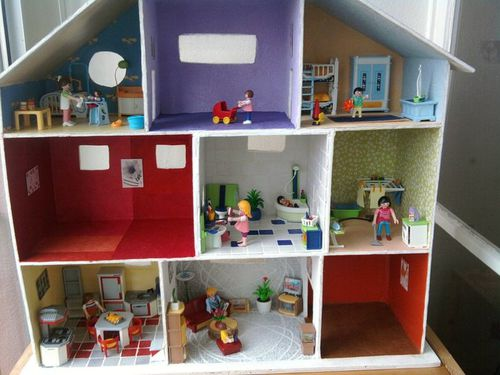 Cr ation stagiaire maison playmobil en carton tortuedodouce - Creation a faire a la maison ...