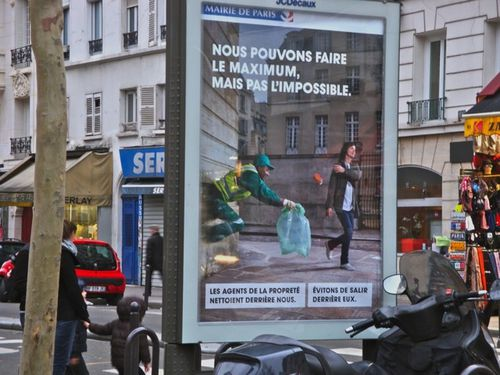 affiche propreté maximum Paris 0162