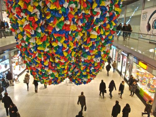 Pascale Marthine Tayou Plastic bags Saint-Lazare 5