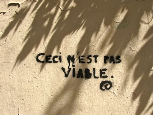 message street-art pas viable