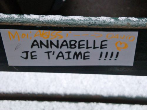 sticker Annabelle je t'aime 5