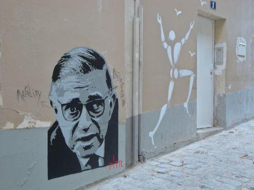 Pitr Sartre Mesnager Montmartre street-art 2