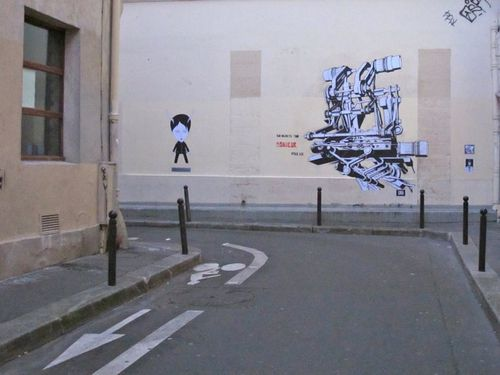 Le Chevalier street-art 36 recyclab
