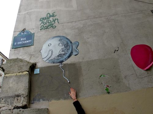 poisson street-art Montmartre