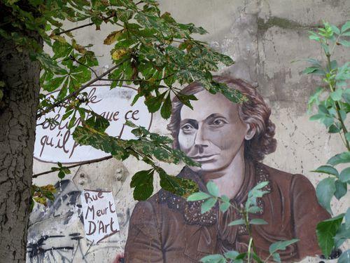 papier collé Rue Meurt d'Art Louise Michel 18è 0047