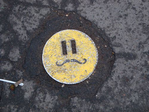smiley street-art trottoir 2