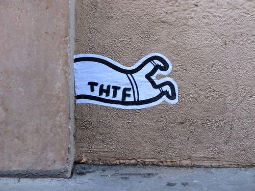 street-art papier Beaubourg THTF 5