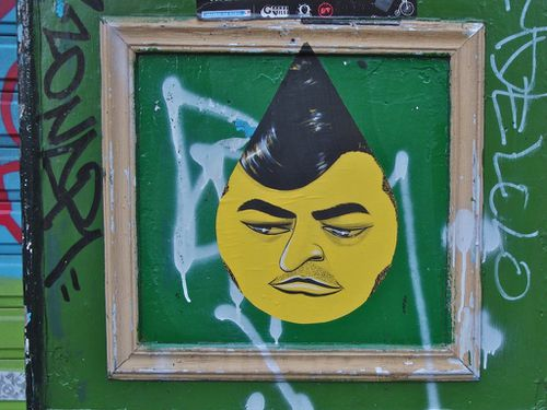 street-art visage goutte Montmartre 6