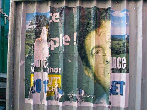 Affiche politique front gauche Miguet 3