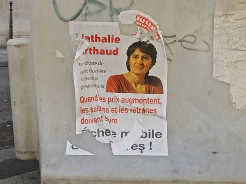 affiche prsidentielle 2012 Nathalie Arthaud Lutte 6