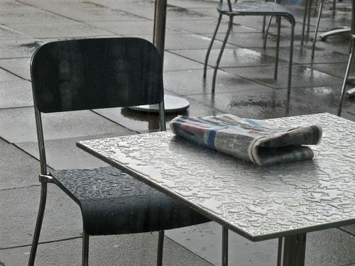 Londres journal pluie