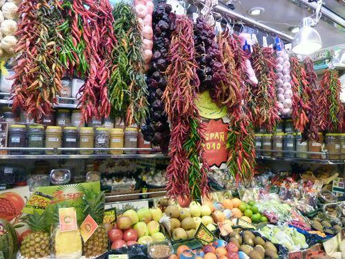Marché de la boquerie fruitier