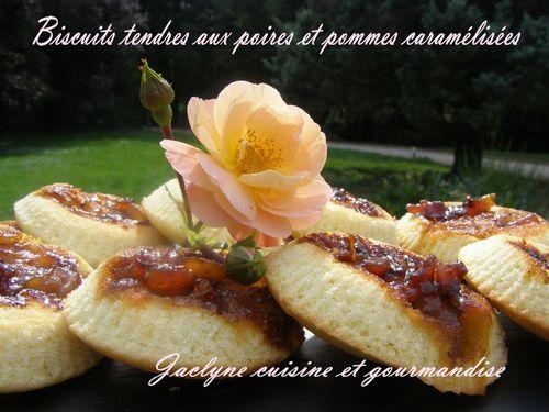 Biscuits tendres aux pommes et poires Jaclyne cuisine et gourmandise