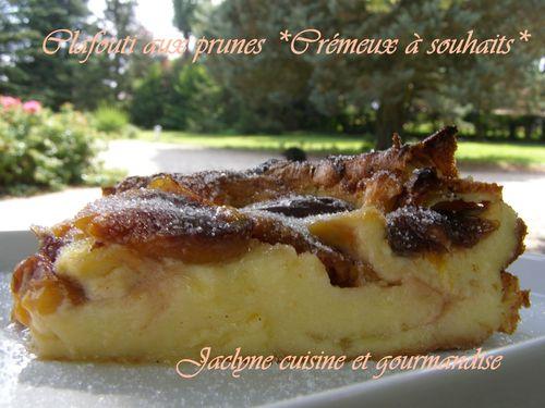 Clafouti aux prunes du verger Jaclyne cuisine et gourmandise