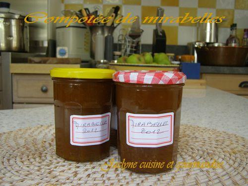 Compotée de mirabelles Jaclyne cuisine et gourmandise