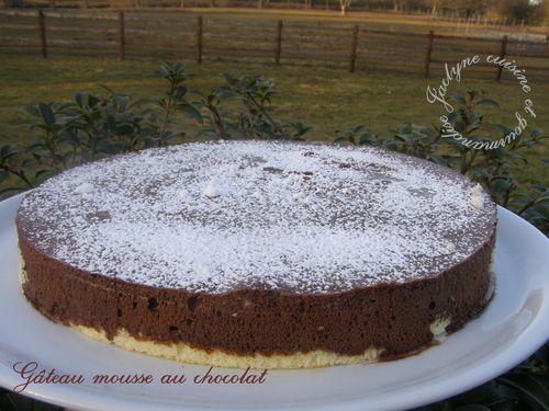 Gâteau mousse au chocolat, mascarpone Jaclyne cuisine et gourmandise