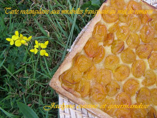 Tarte pâte sablée à la crème sur fond de frangipane au miel de romarin Jaclyne cuisine et gourmandise