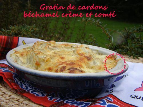 Gratin de cardons, sauce béchamel à la crème, comté Un excellent légume pour les fêtes Jaclyne cuisine et gourmandise