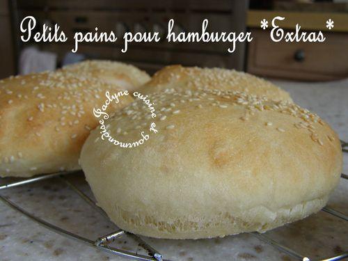 Petits pains pour hamburger Jaclyne cuisine et gourmandise