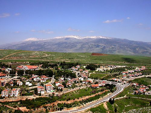 Mount Hermon and Metulla from west