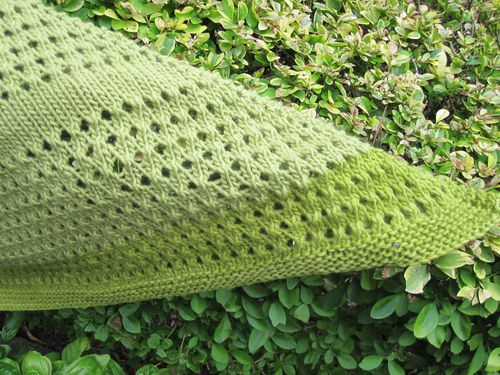 shawl vert 1