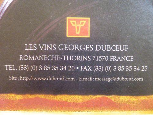Vins Georges Duboeuf, Vavro 4, Signature
