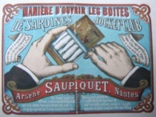 Boîte de conserve, Sardines à l'Huile, Saupiquet, Nantes