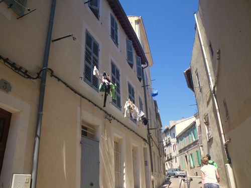 Marseille, Le Panier, Linge qui sèche