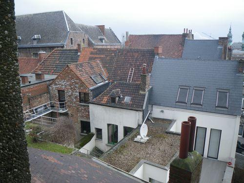 Mons, Square du Château, Vue sur les toits