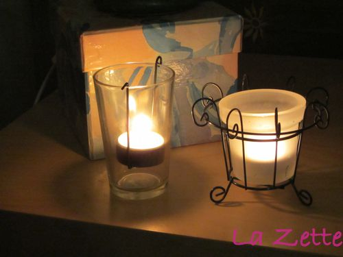 ambiance hivernale : bougeoirs