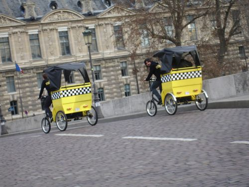 Vélos taxis à Paris