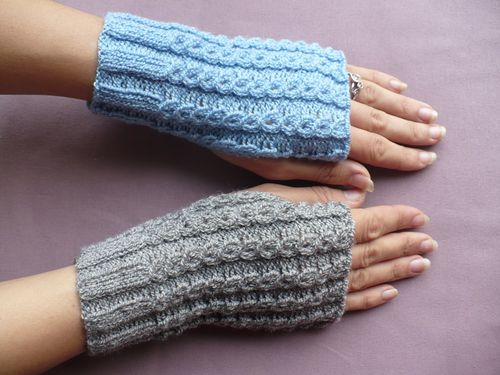 tricot mitaines finies