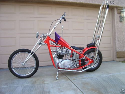 bonneville custom chopper