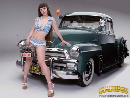 0605 lrm 01 z+1954 chevrolet 3100 pickup truck+with melinda
