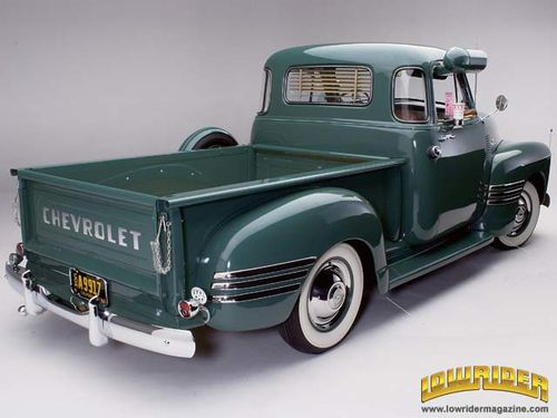 0605 lrm 03 z+1954 chevrolet 3100 pickup truck+rear view
