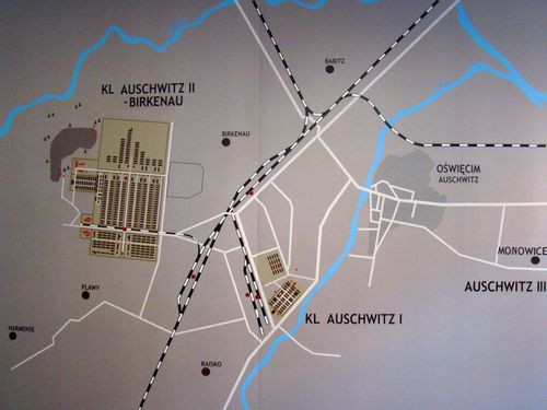 12932 AUSCHWITZ Carte du camp