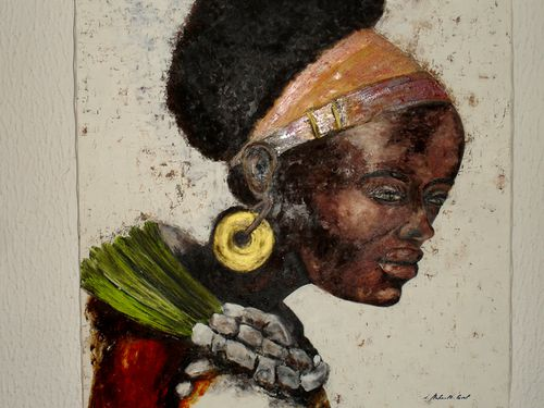 0168-0197 Peinture Jeune femme