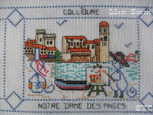 Carte brodee Collioure-ND des Anges-Mamigoz