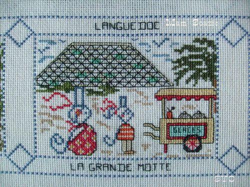 Carte brodee-La Grande Motte-2 Mamigoz
