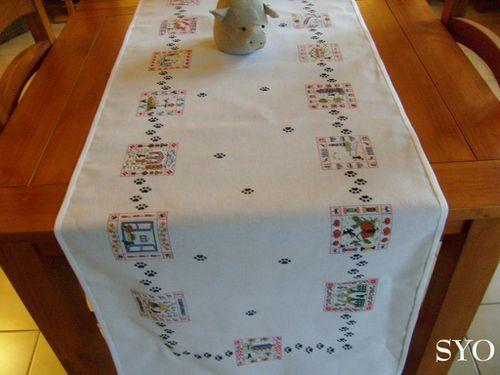 Balade Chat Noir-chemin de table-Mamigoz (3)